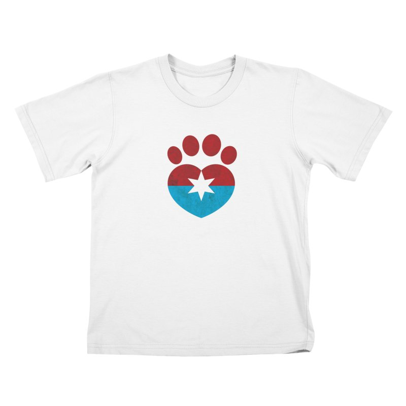 PAW RED/BLUE Kids T-Shirt by Fix Chicago