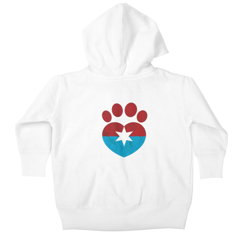 PAW RED/BLUE Kids Baby Zip-Up Hoody by Fix Chicago