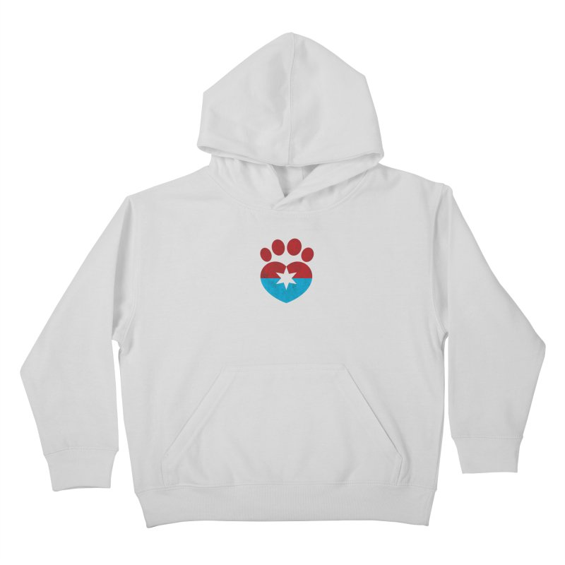 PAW RED/BLUE Kids Pullover Hoody by Fix Chicago
