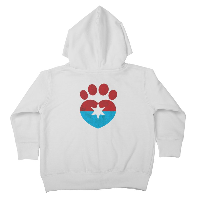 PAW RED/BLUE Kids Toddler Zip-Up Hoody by Fix Chicago