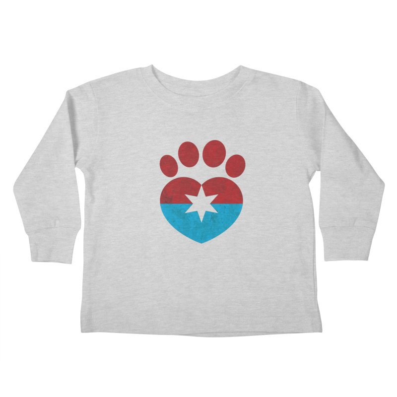 PAW RED/BLUE Kids Toddler Longsleeve T-Shirt by Fix Chicago
