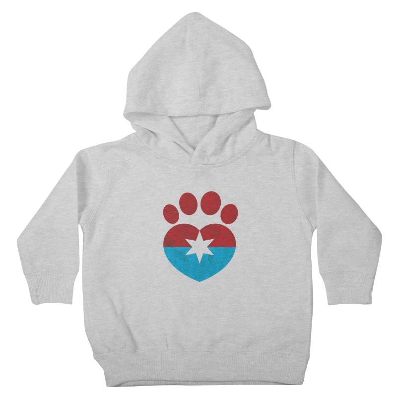 PAW RED/BLUE Kids Toddler Pullover Hoody by Fix Chicago