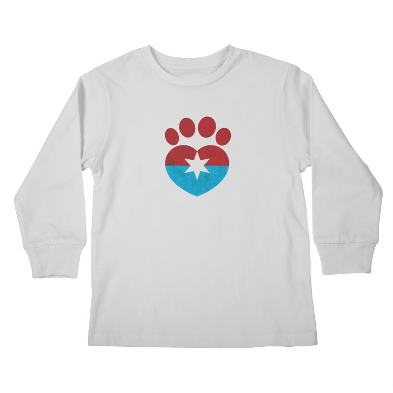 PAW RED/BLUE Kids Longsleeve T-Shirt by Fix Chicago