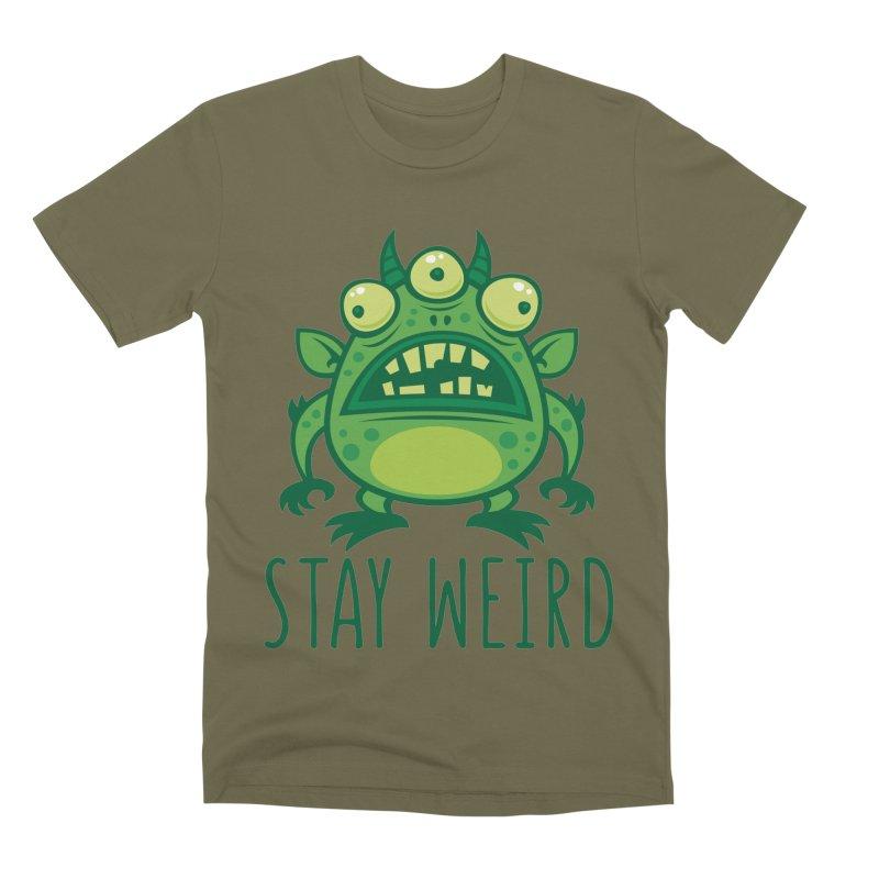 Stay Weird Alien Monster Men's Premium T-Shirt by Fizzgig's Artist Shop