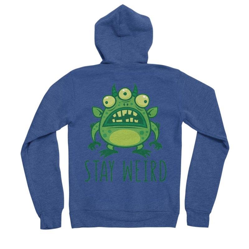 Stay Weird Alien Monster Men's Sponge Fleece Zip-Up Hoody by Fizzgig's Artist Shop