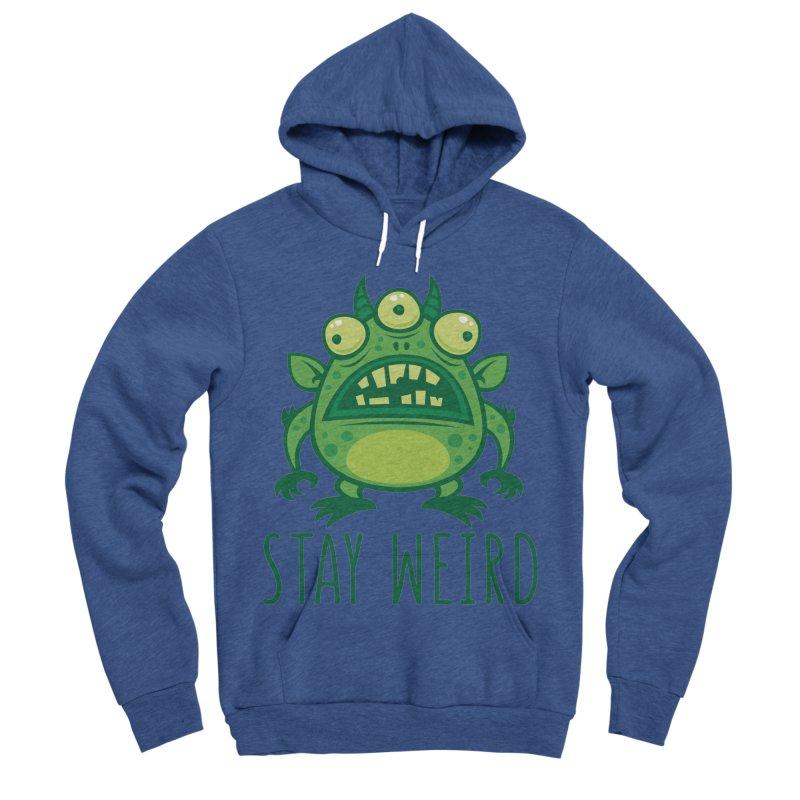 Stay Weird Alien Monster Women's Sponge Fleece Pullover Hoody by Fizzgig's Artist Shop