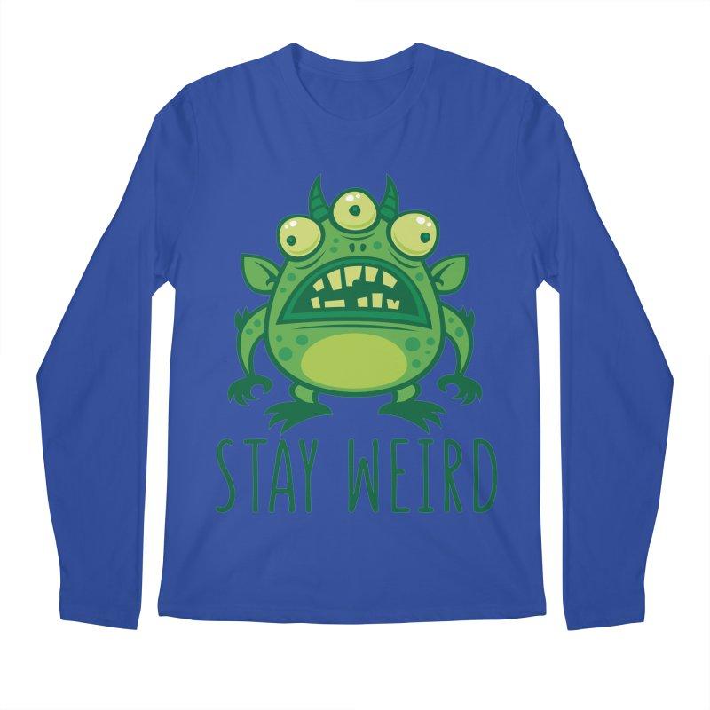 Stay Weird Alien Monster Men's Regular Longsleeve T-Shirt by Fizzgig's Artist Shop