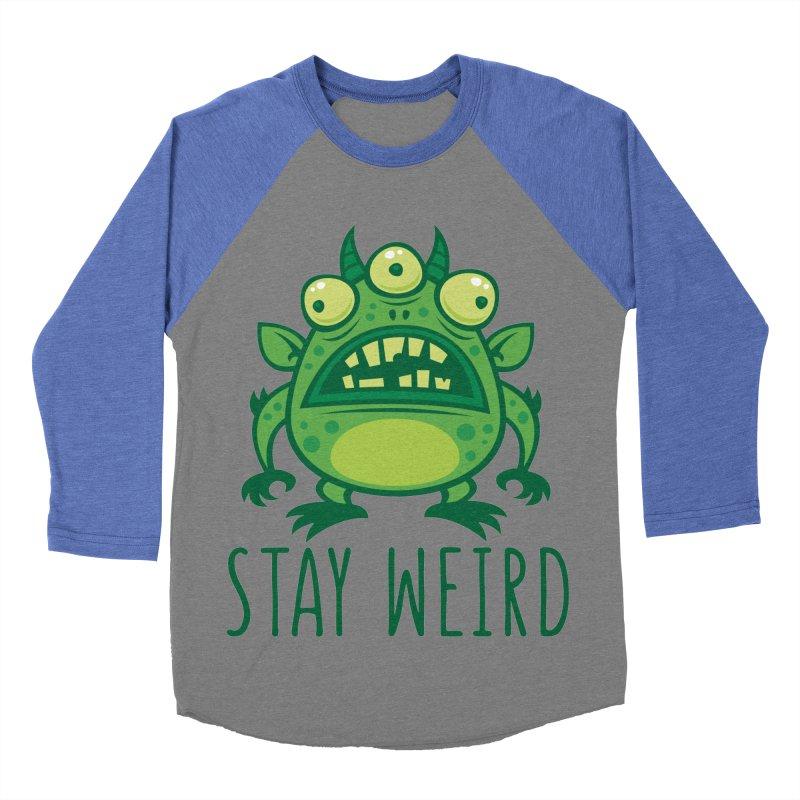 Stay Weird Alien Monster Men's Baseball Triblend Longsleeve T-Shirt by Fizzgig's Artist Shop