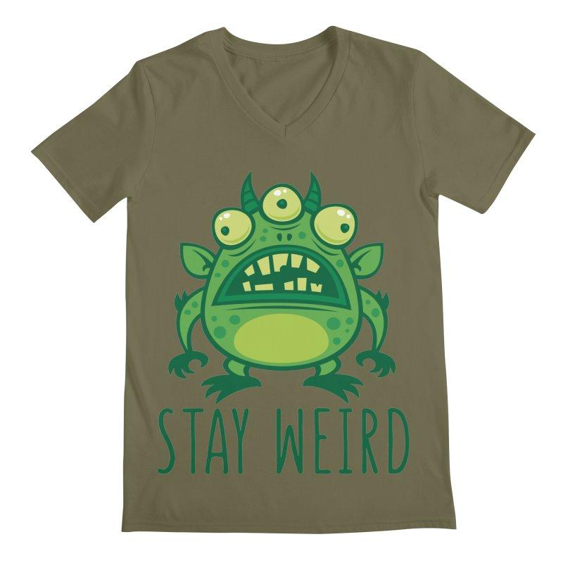 Stay Weird Alien Monster Men's Regular V-Neck by Fizzgig's Artist Shop