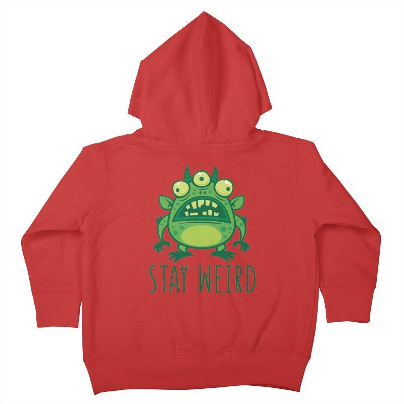 Stay Weird Alien Monster Kids Toddler Zip-Up Hoody by Fizzgig's Artist Shop