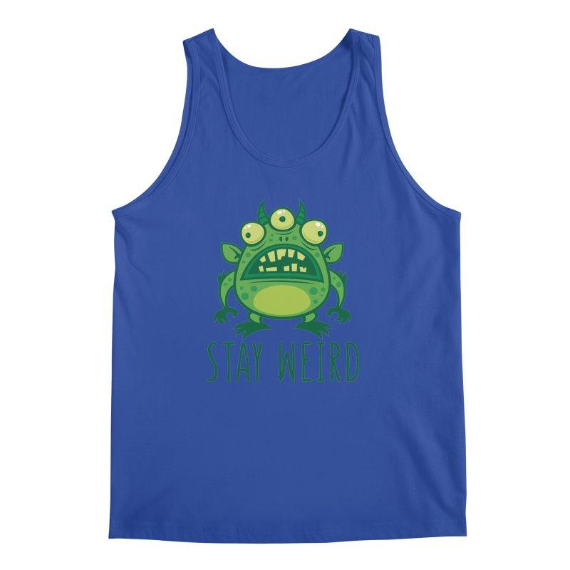 Stay Weird Alien Monster Men's Regular Tank by Fizzgig's Artist Shop