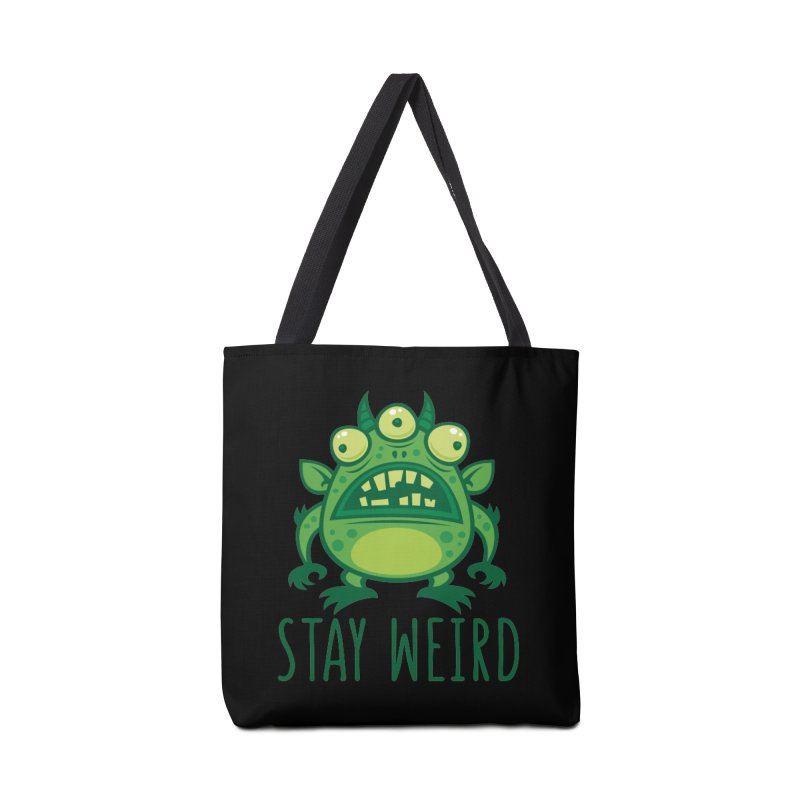 Stay Weird Alien Monster Accessories Tote Bag Bag by Fizzgig's Artist Shop