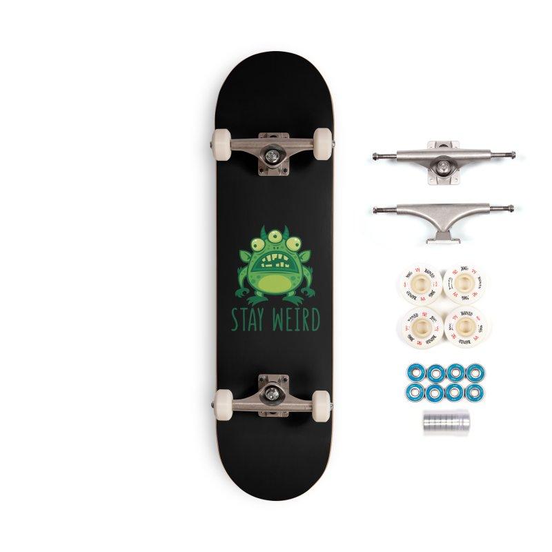 Stay Weird Alien Monster Accessories Complete - Premium Skateboard by Fizzgig's Artist Shop