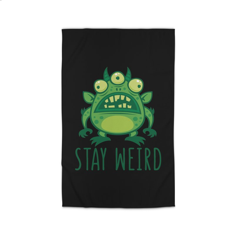 Stay Weird Alien Monster Home Rug by Fizzgig's Artist Shop