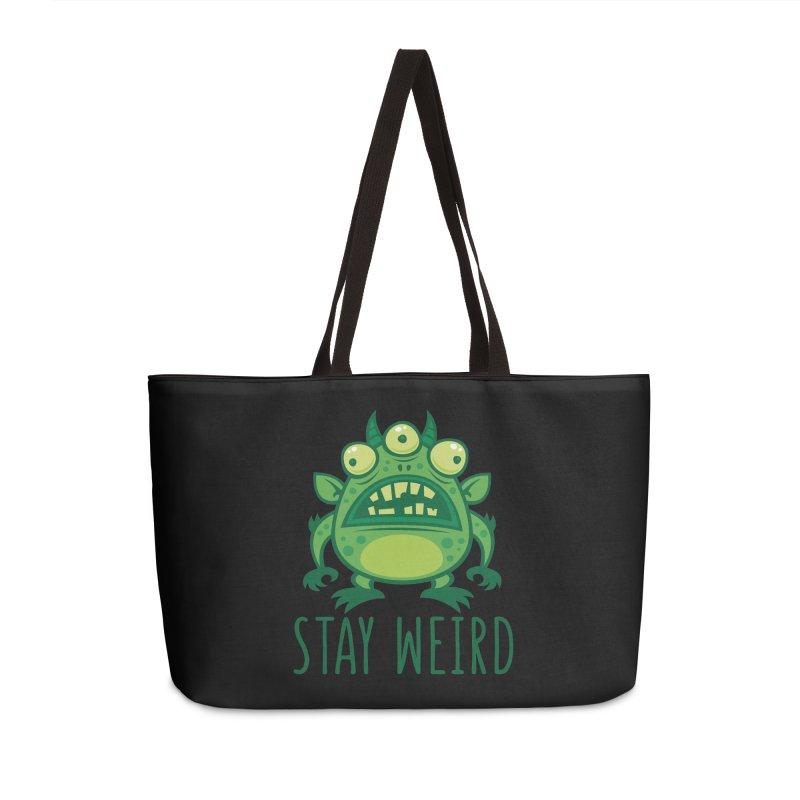 Stay Weird Alien Monster Accessories Weekender Bag Bag by Fizzgig's Artist Shop