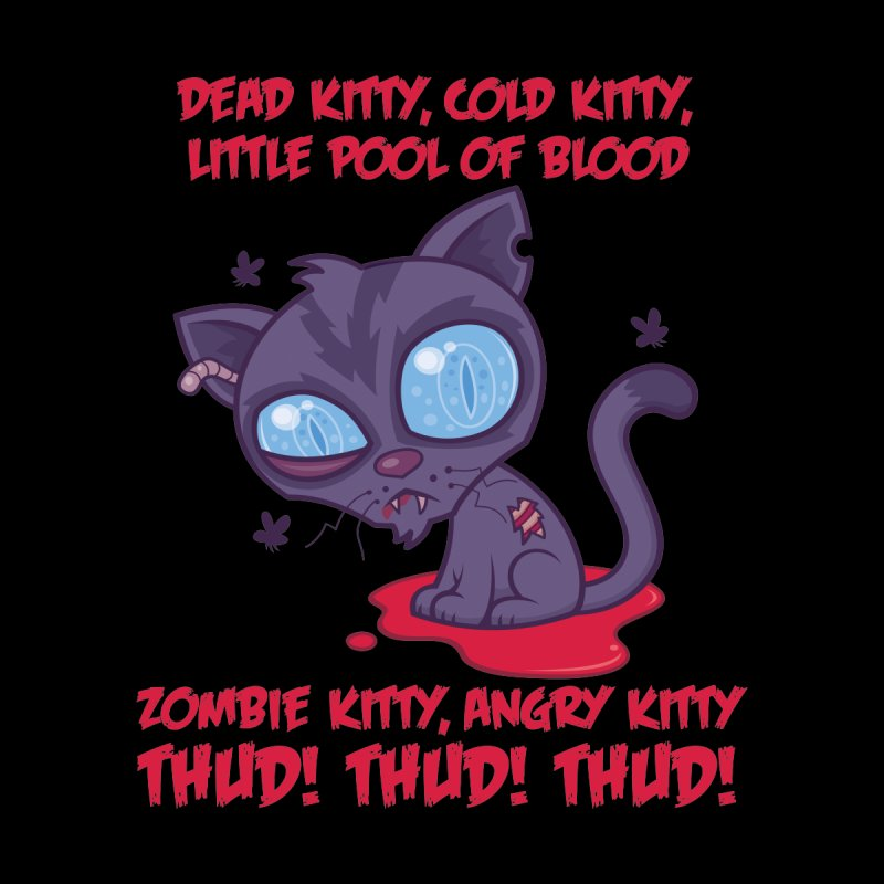 Dead Cold Angry Zombie Kitty Women's T-Shirt by Fizzgig's Artist Shop