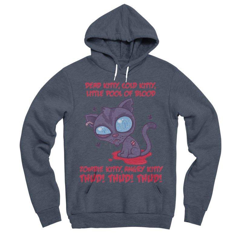 Dead Cold Angry Zombie Kitty Women's Sponge Fleece Pullover Hoody by Fizzgig's Artist Shop