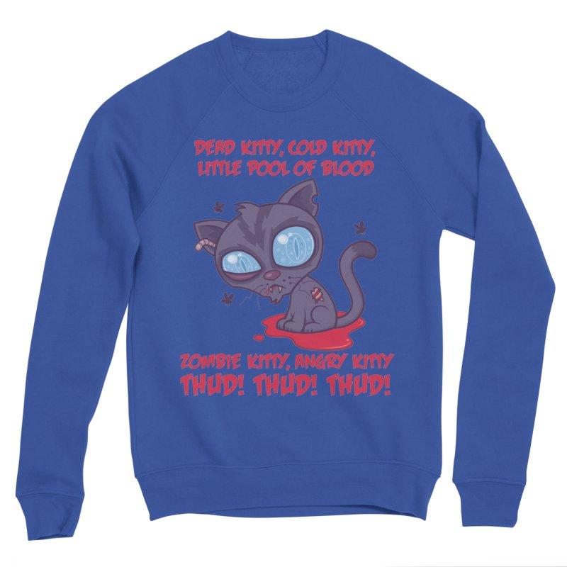 Dead Cold Angry Zombie Kitty Men's Sponge Fleece Sweatshirt by Fizzgig's Artist Shop