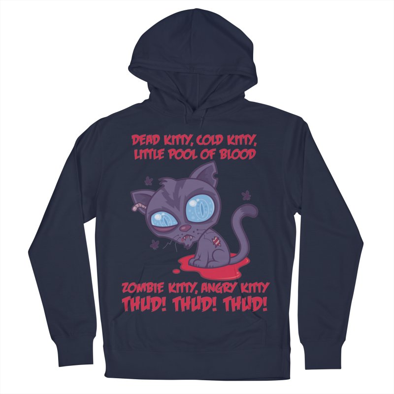 Dead Cold Angry Zombie Kitty Women's French Terry Pullover Hoody by Fizzgig's Artist Shop