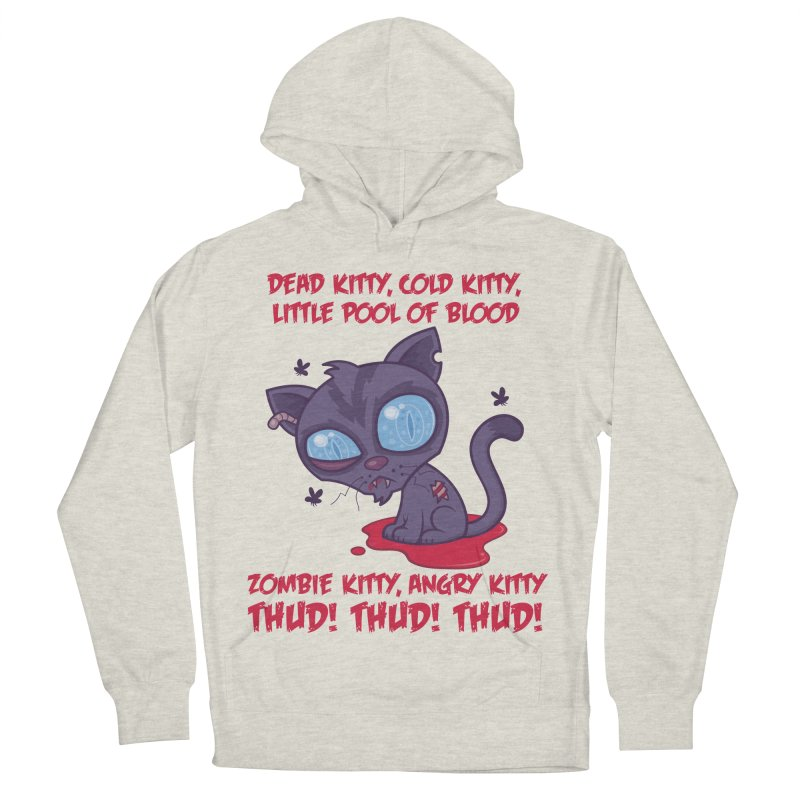 Dead Cold Angry Zombie Kitty Men's French Terry Pullover Hoody by Fizzgig's Artist Shop