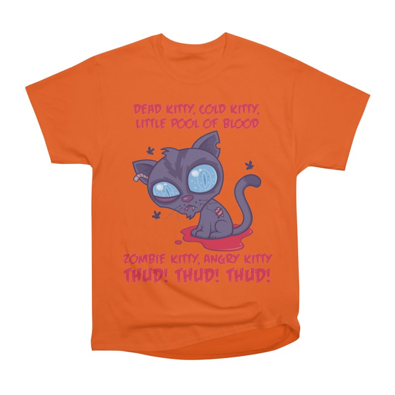Dead Cold Angry Zombie Kitty Women's Heavyweight Unisex T-Shirt by Fizzgig's Artist Shop