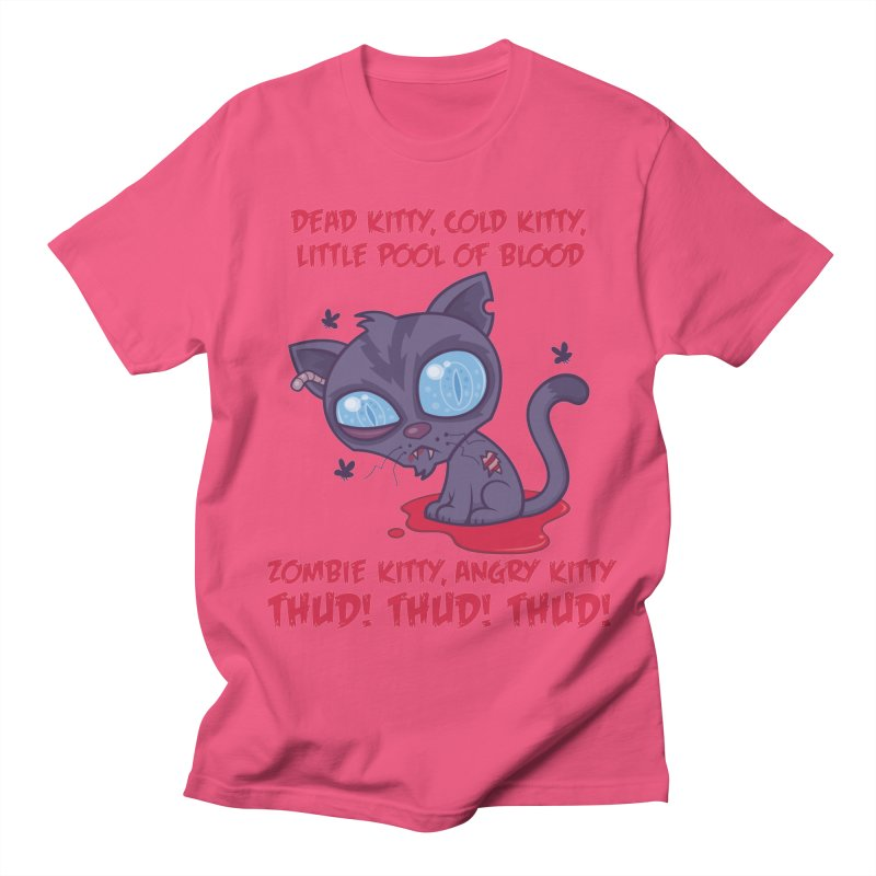 Dead Cold Angry Zombie Kitty Men's Regular T-Shirt by Fizzgig's Artist Shop