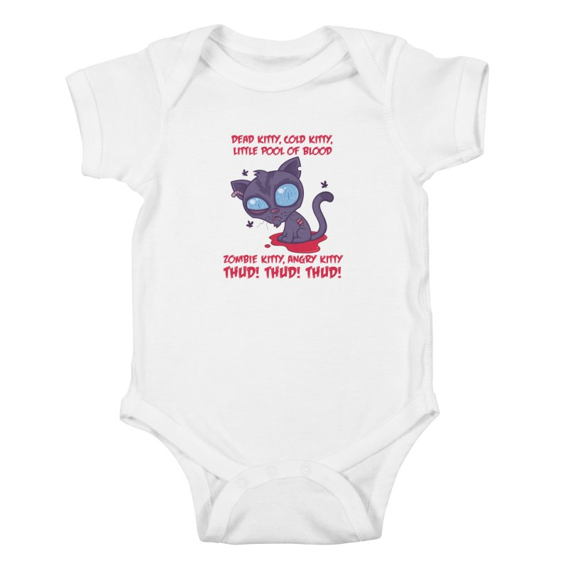 Dead Cold Angry Zombie Kitty Kids Baby Bodysuit by Fizzgig's Artist Shop