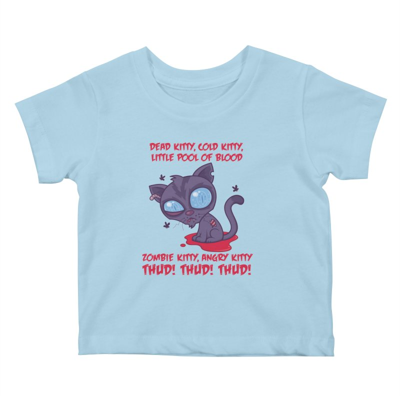 Dead Cold Angry Zombie Kitty Kids Baby T-Shirt by Fizzgig's Artist Shop