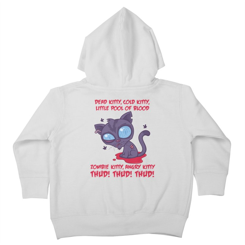 Dead Cold Angry Zombie Kitty Kids Toddler Zip-Up Hoody by Fizzgig's Artist Shop