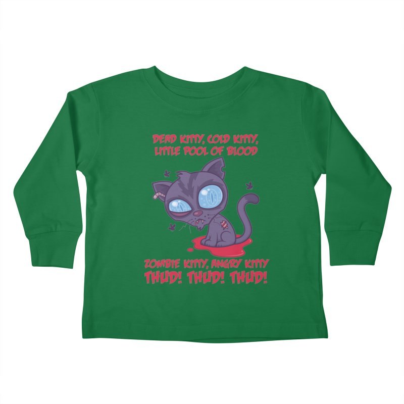 Dead Cold Angry Zombie Kitty Kids Toddler Longsleeve T-Shirt by Fizzgig's Artist Shop