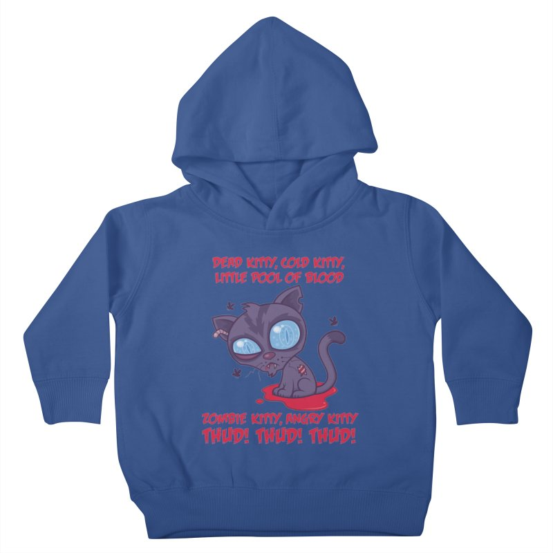 Dead Cold Angry Zombie Kitty Kids Toddler Pullover Hoody by Fizzgig's Artist Shop