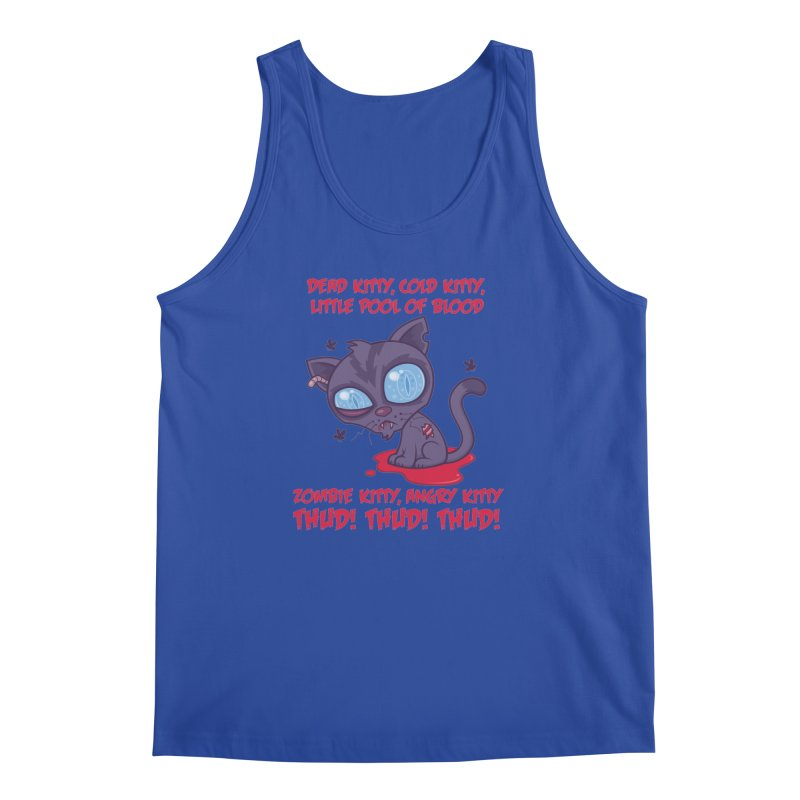 Dead Cold Angry Zombie Kitty Men's Regular Tank by Fizzgig's Artist Shop