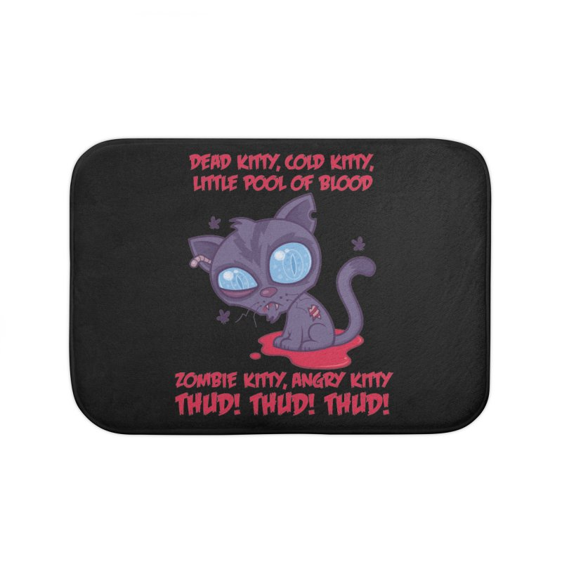 Dead Cold Angry Zombie Kitty Home Bath Mat by Fizzgig's Artist Shop