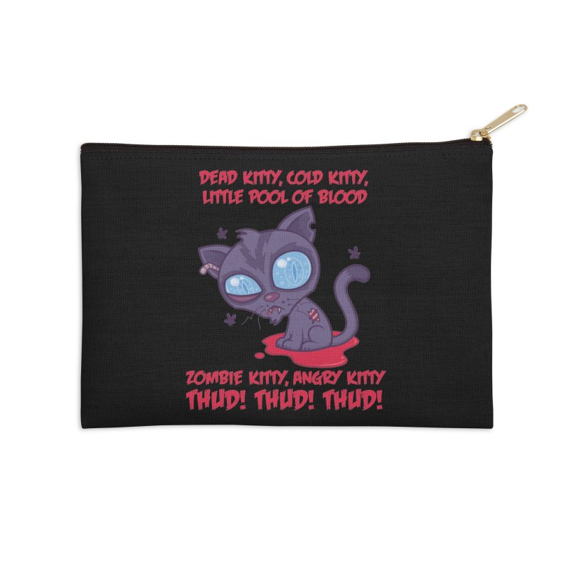Dead Cold Angry Zombie Kitty Accessories Zip Pouch by Fizzgig's Artist Shop