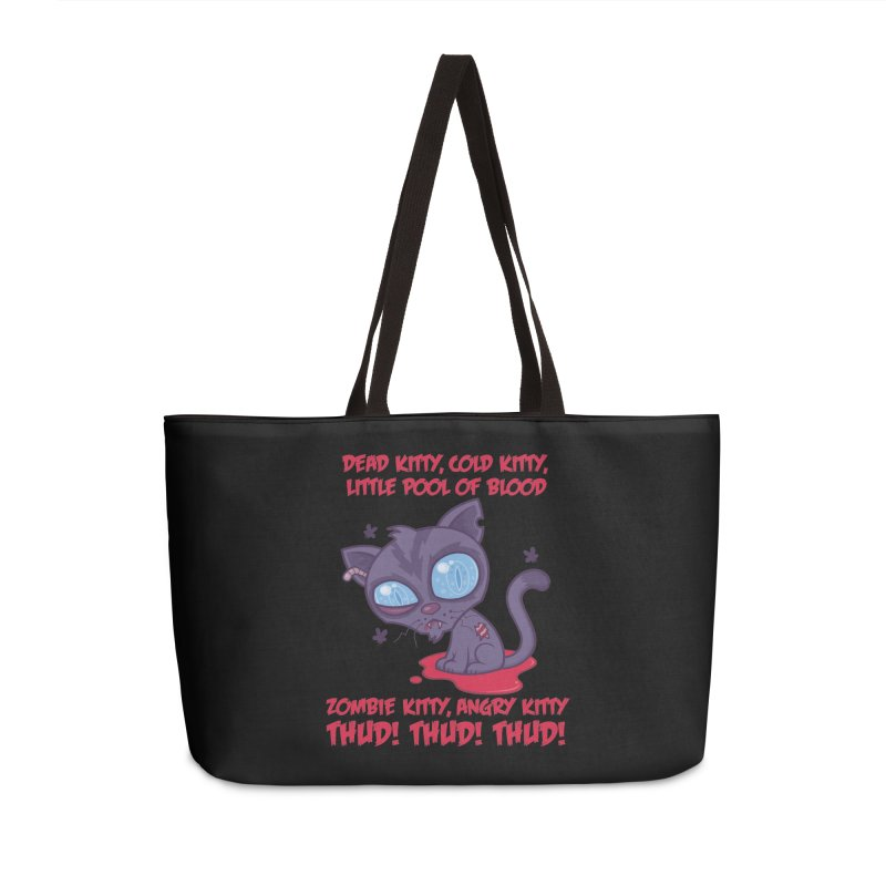 Dead Cold Angry Zombie Kitty Accessories Weekender Bag Bag by Fizzgig's Artist Shop