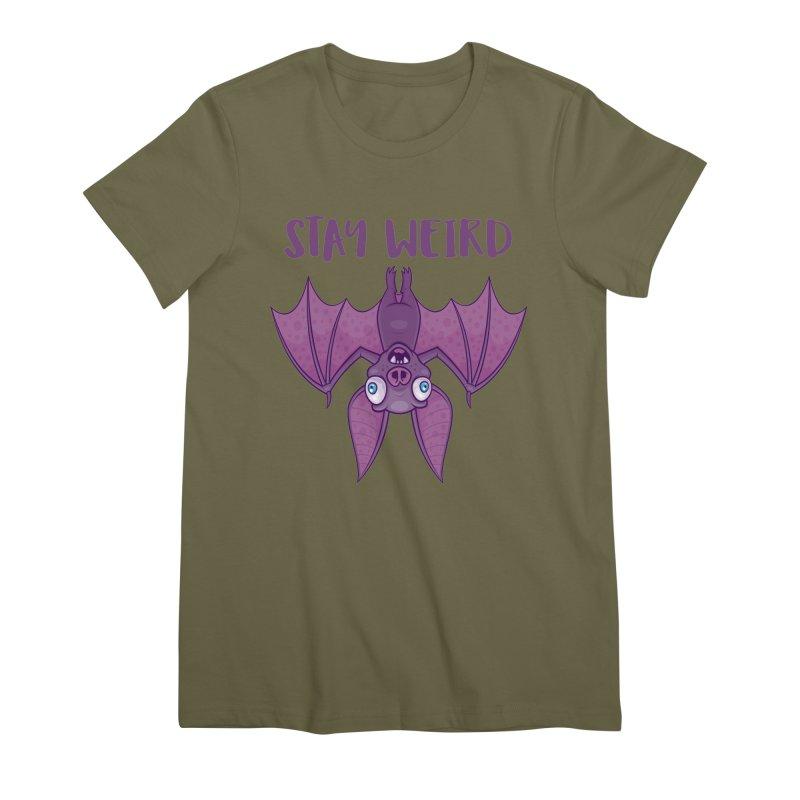 Stay Weird Cartoon Bat Women's Premium T-Shirt by Fizzgig's Artist Shop