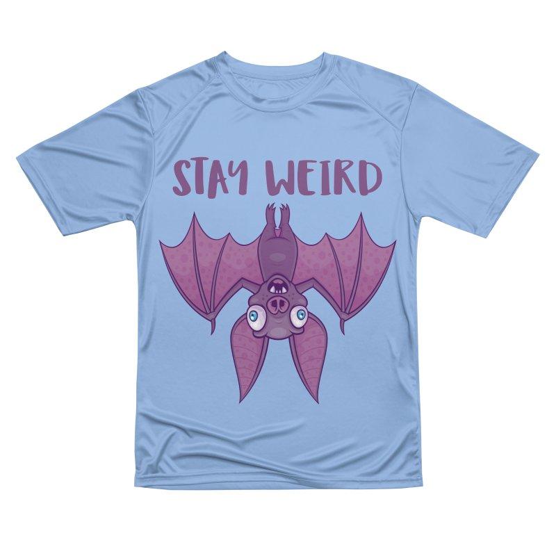 Stay Weird Cartoon Bat Women's Performance Unisex T-Shirt by Fizzgig's Artist Shop