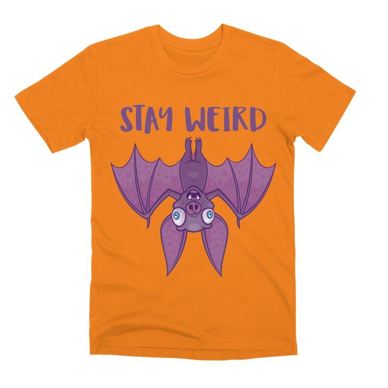 Stay Weird Cartoon Bat Men's Premium T-Shirt by Fizzgig's Artist Shop