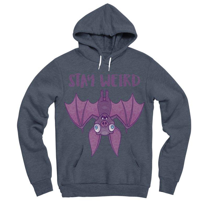 Stay Weird Cartoon Bat Men's Sponge Fleece Pullover Hoody by Fizzgig's Artist Shop