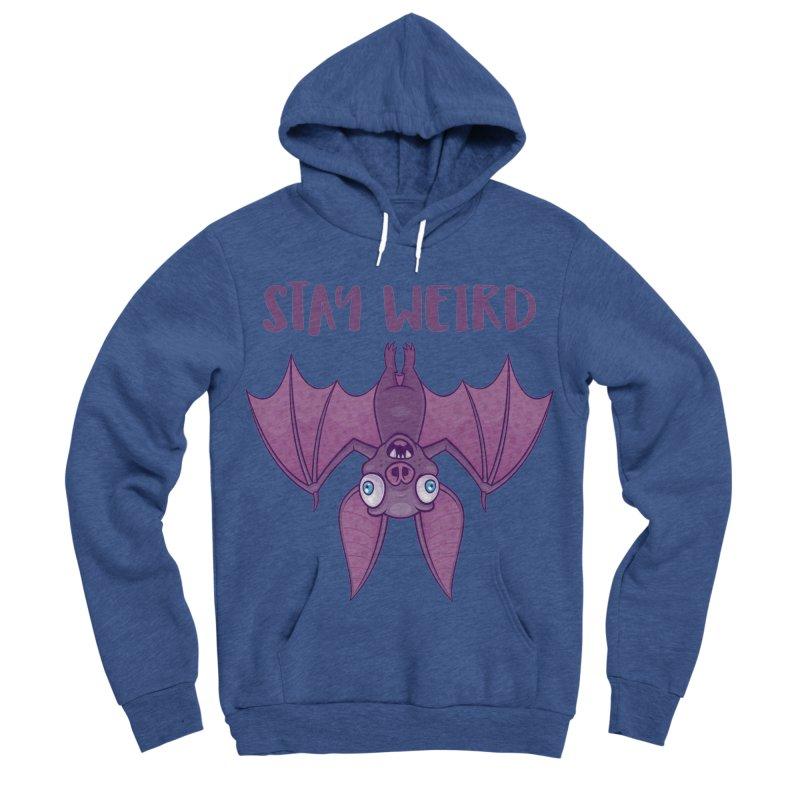 Stay Weird Cartoon Bat Women's Sponge Fleece Pullover Hoody by Fizzgig's Artist Shop