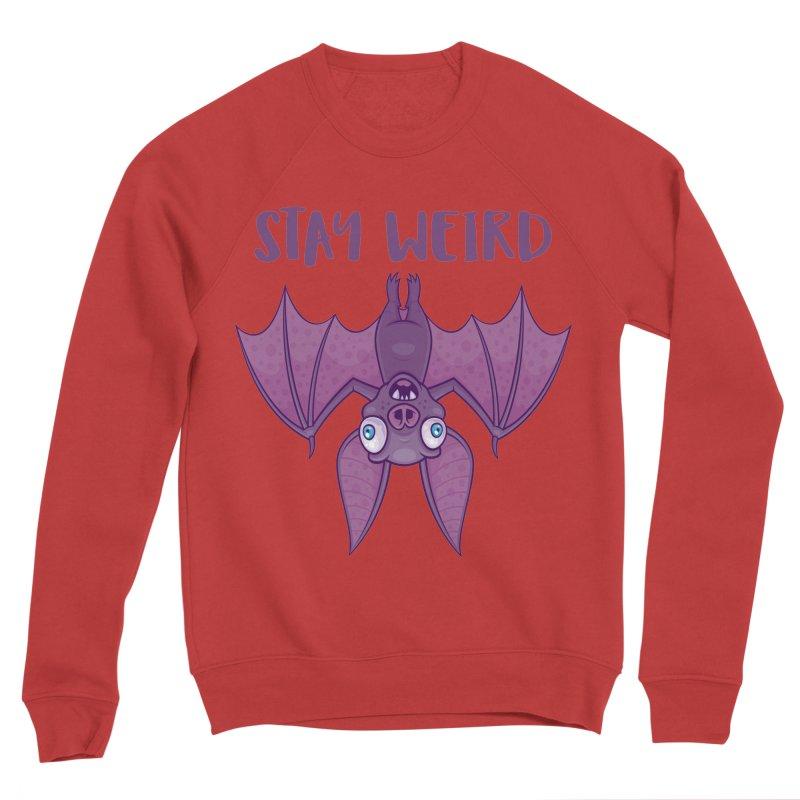 Stay Weird Cartoon Bat Men's Sponge Fleece Sweatshirt by Fizzgig's Artist Shop