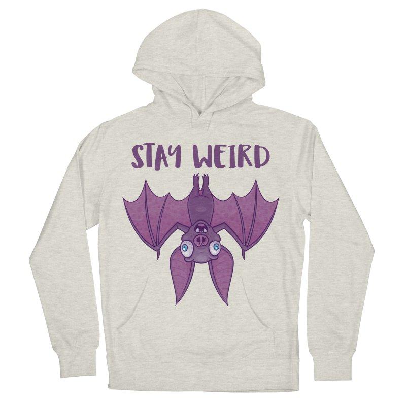Stay Weird Cartoon Bat Men's French Terry Pullover Hoody by Fizzgig's Artist Shop