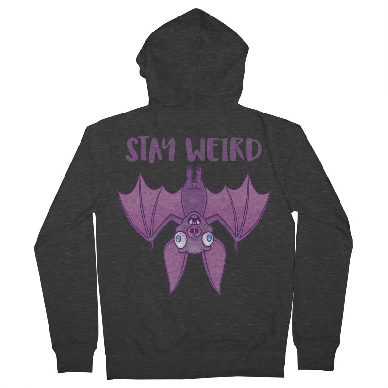 Stay Weird Cartoon Bat Women's French Terry Zip-Up Hoody by Fizzgig's Artist Shop
