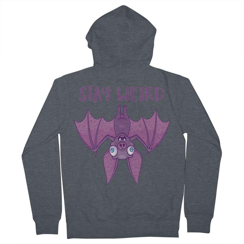 Stay Weird Cartoon Bat Women's French Terry Zip-Up Hoody by Fizzgig's Artist Shop