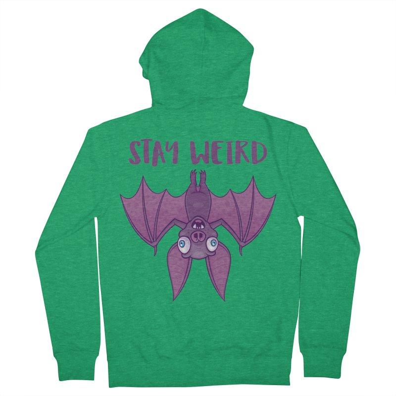 Stay Weird Cartoon Bat Men's French Terry Zip-Up Hoody by Fizzgig's Artist Shop