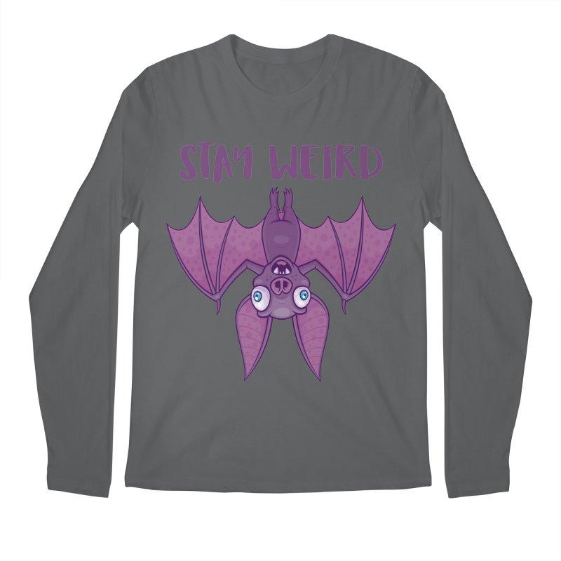 Stay Weird Cartoon Bat Men's Regular Longsleeve T-Shirt by Fizzgig's Artist Shop