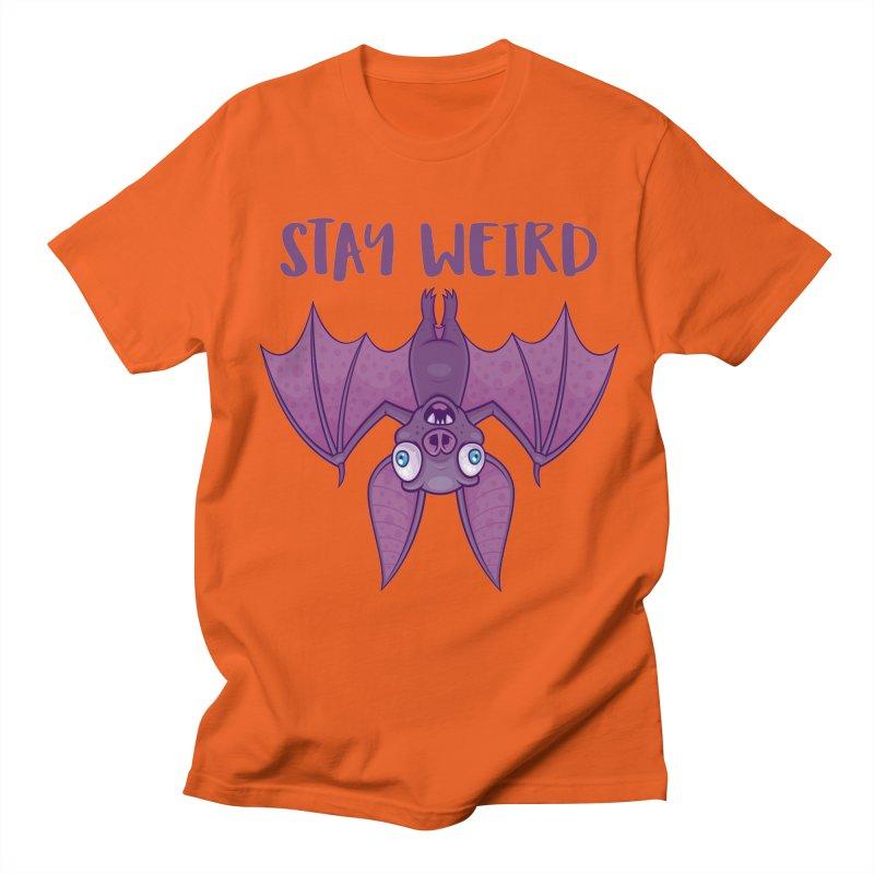 Stay Weird Cartoon Bat Men's Regular T-Shirt by Fizzgig's Artist Shop