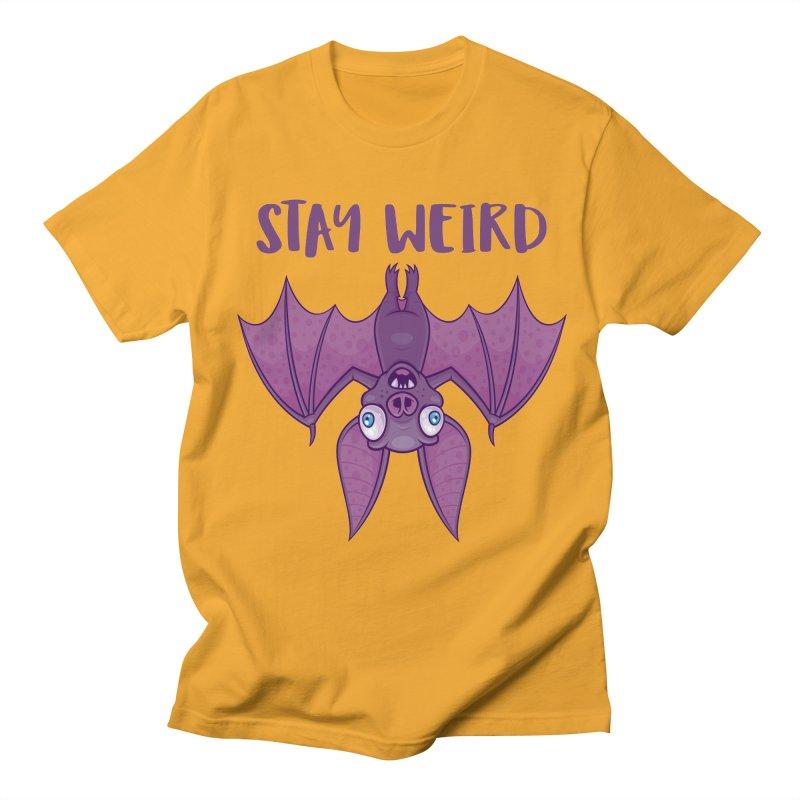 Stay Weird Cartoon Bat Women's Regular Unisex T-Shirt by Fizzgig's Artist Shop