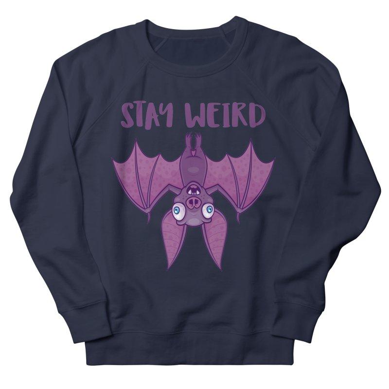 Stay Weird Cartoon Bat Women's French Terry Sweatshirt by Fizzgig's Artist Shop