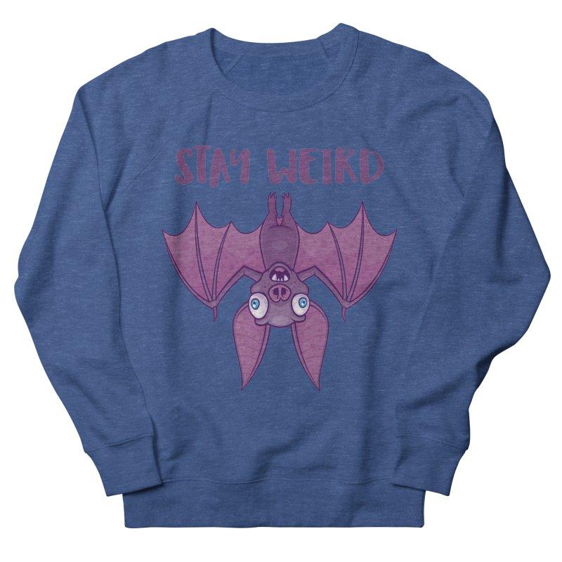 Stay Weird Cartoon Bat Men's Sweatshirt by Fizzgig's Artist Shop